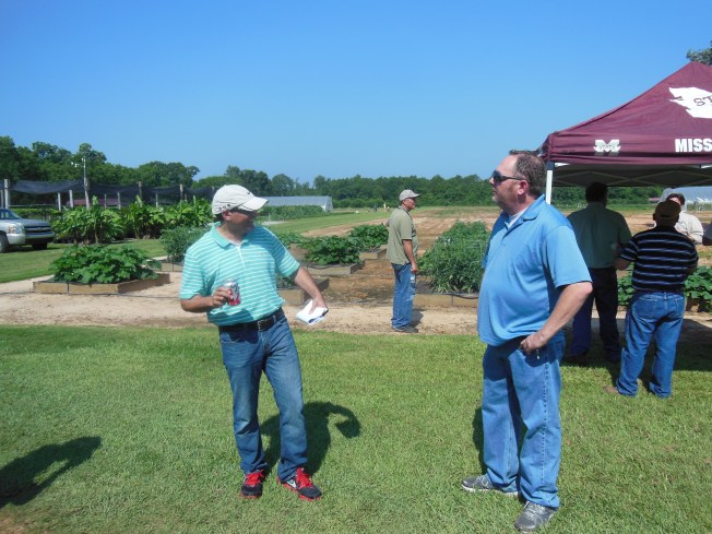 Dr. Barakat Mahmoud and Research Associate, Randy Coker.  Dr. Mahmoud discussed Food Safety and Postharvest Handling.