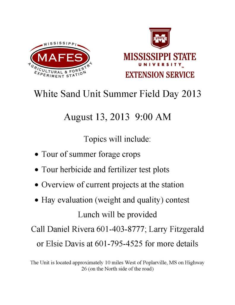 White Sand Unit Summer Field Day 2013_Flyer