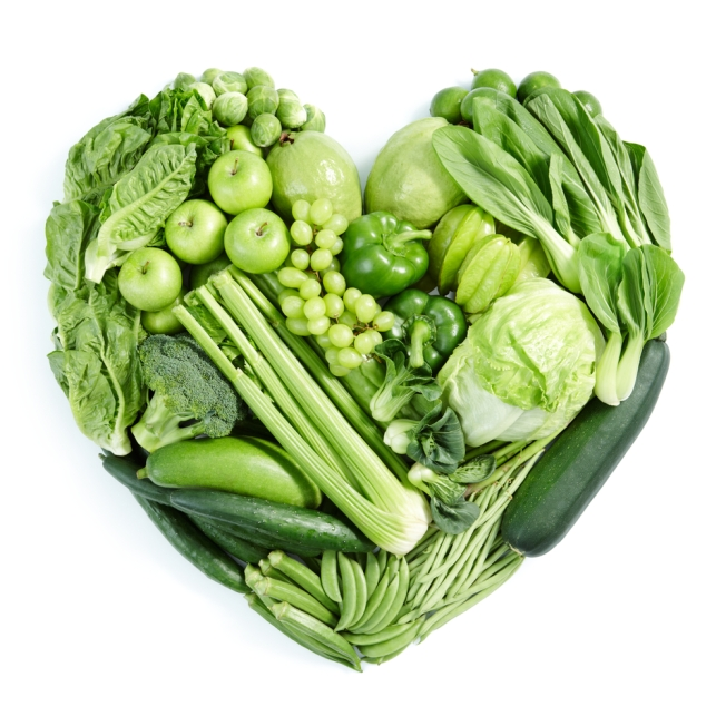green veggies heart