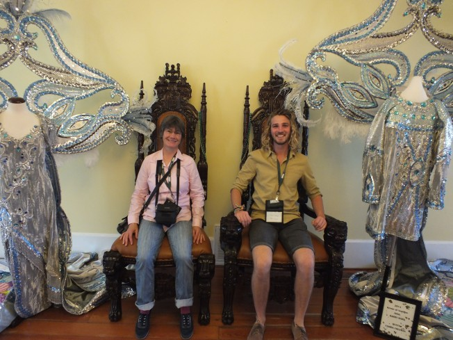 Royals for a day:  Jenny Barrett and Ben Gregory.