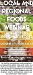 Local and Regional Food Webinar – October 7th, 2016